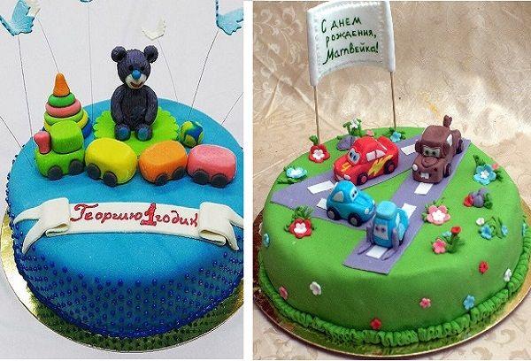 Торт с мастикой и мишками