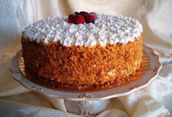 Торт медовик с кремом
