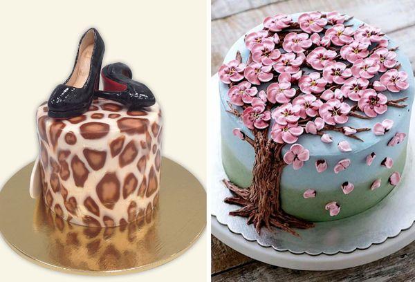 Праздничный торт для дам