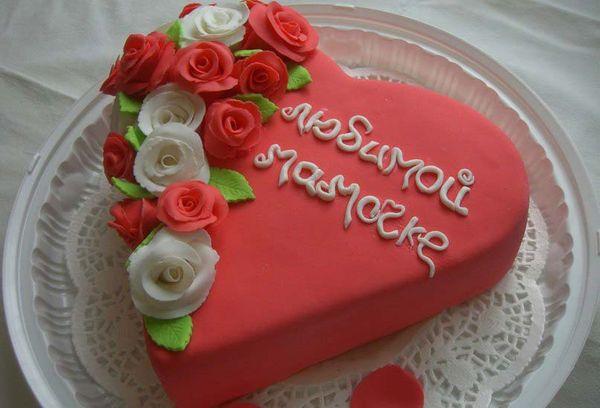 Торт украшенный мастикой