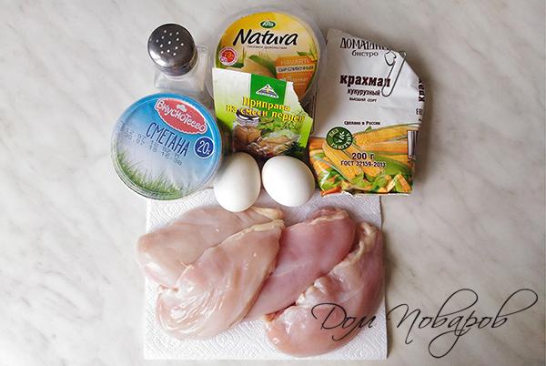 Ингредиенты для рубленых котлет из курицы