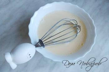 Яйца, взбитые с молоком