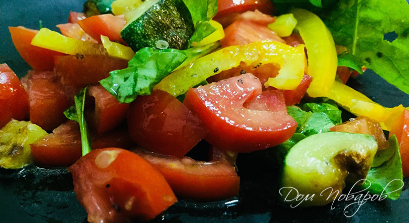 Салат из кабачков, помидоров и перца