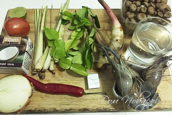 Ингредиенты для супа том ка