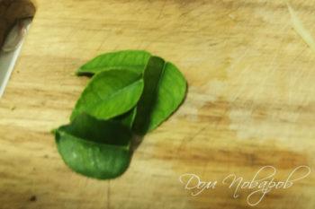 Листья кафир-лайма