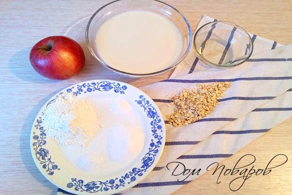 Ингредиенты для блинчиков на овсяном молоке
