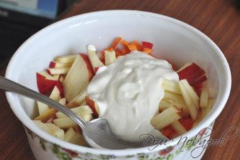Ингредиенты для салата с заправкой