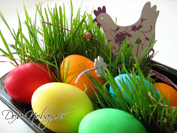 Пасхальные яйца получаются очень яркими