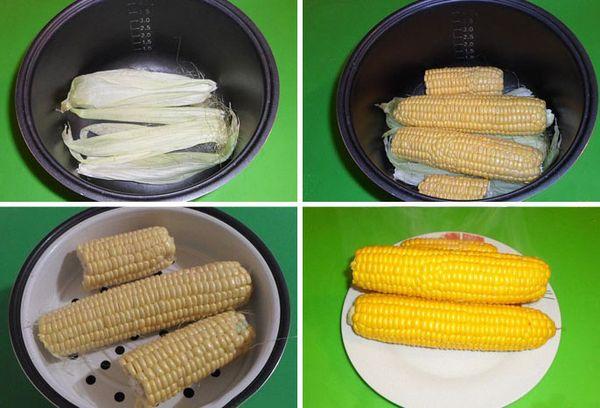 приготовление кукурузы в початках