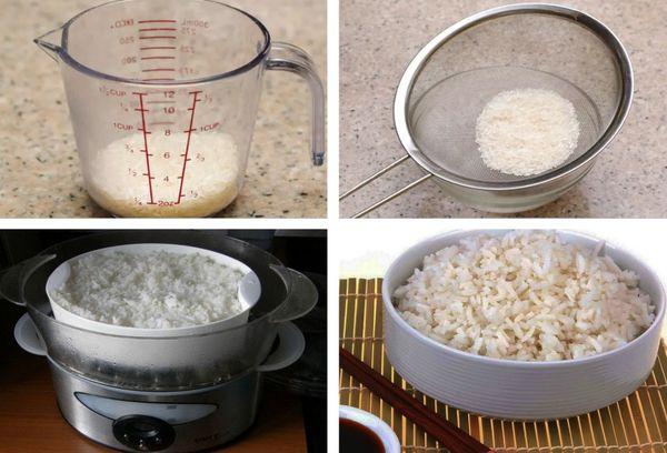 Отваривание риса в пароварке