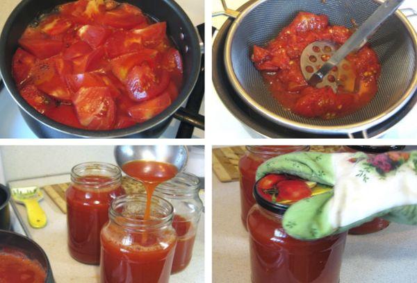 Приготовление томатного сока