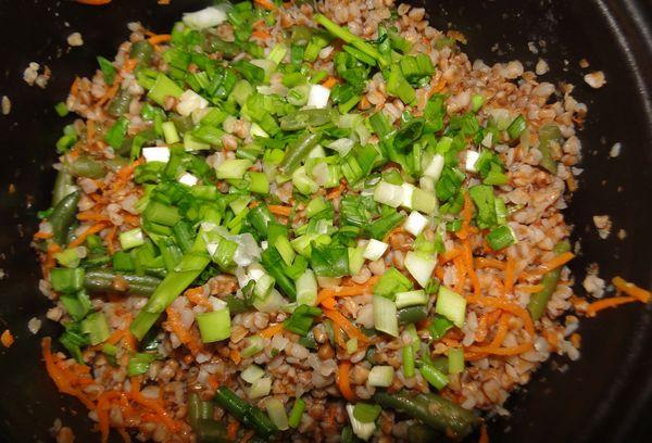 гречневая крупа с овощами
