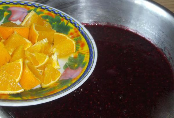 Варенье из ежевики и апельсинов