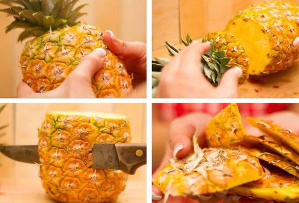 чистка ананаса