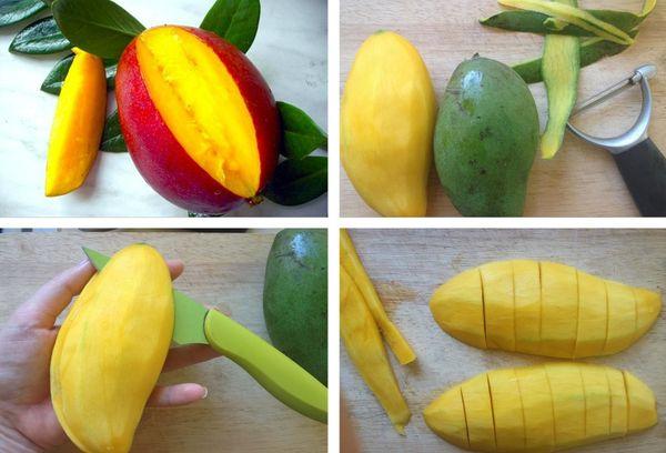 чистка фрукта