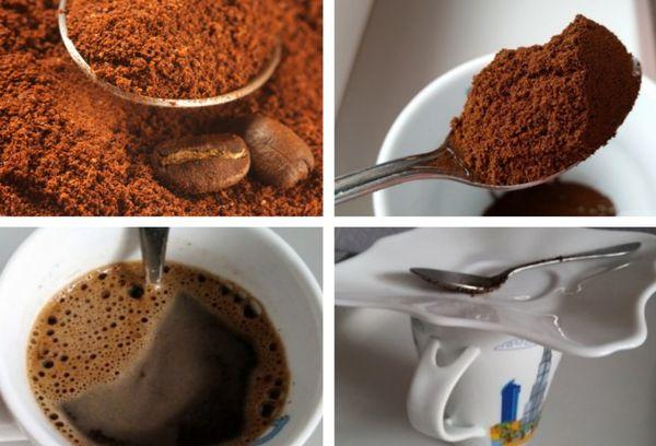 Приготовление кофе в чашке