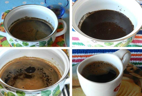 Приготовление кофе в кастрюле