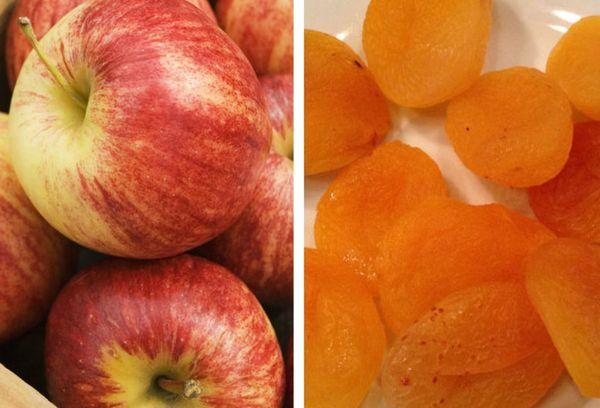 яблоки и курага