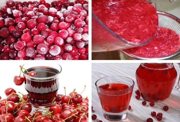 приготовление морса из замороженных ягод