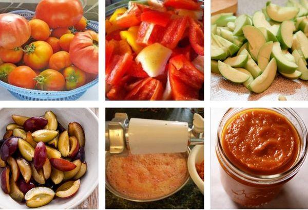 приготовление пасты из помидоров и перца