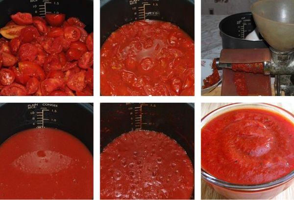 приготовление пасты из помидоров