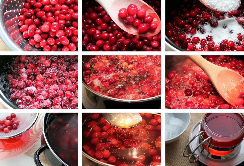 приготовление морса из ягод