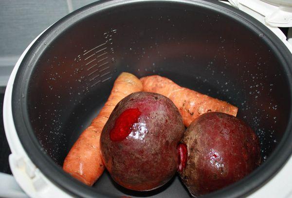 свекла и морковь в мультиварке