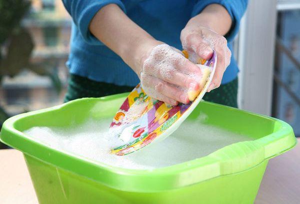 мытье тарелки