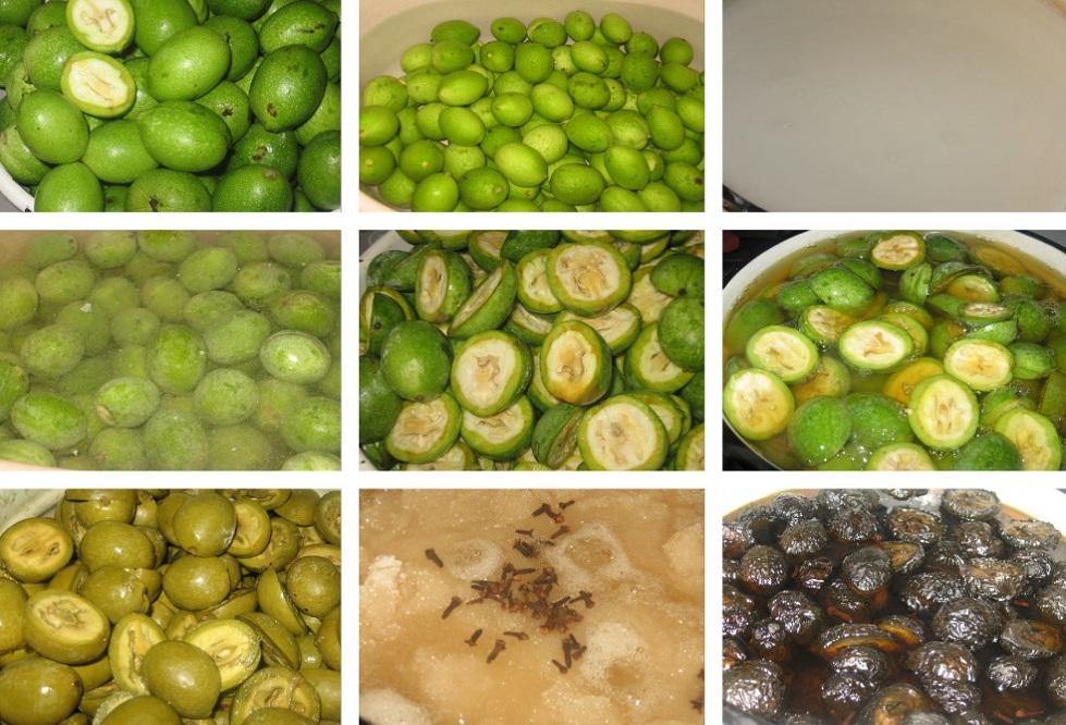приготовление орехового варенья