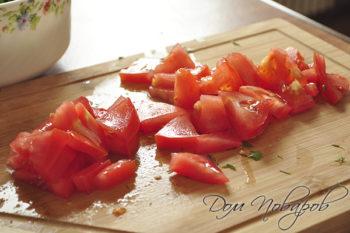 Резаные помидоры
