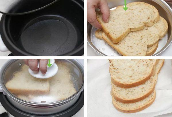 освежаем хлеб на пару
