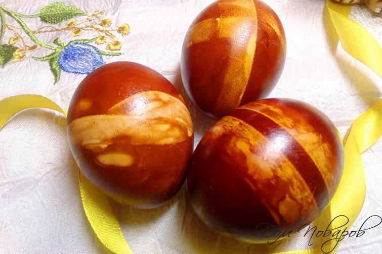 Яйца в полоску