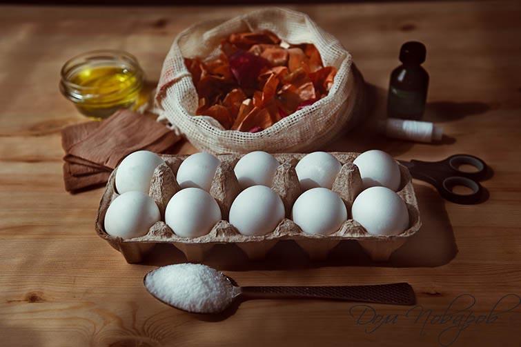 Ингредиенты для мраморных яиц