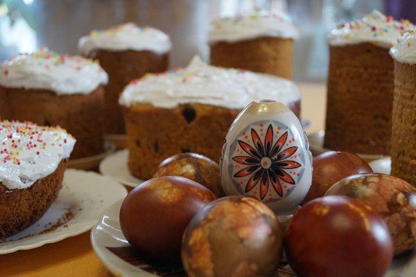 Куличи и пасхальные яйца