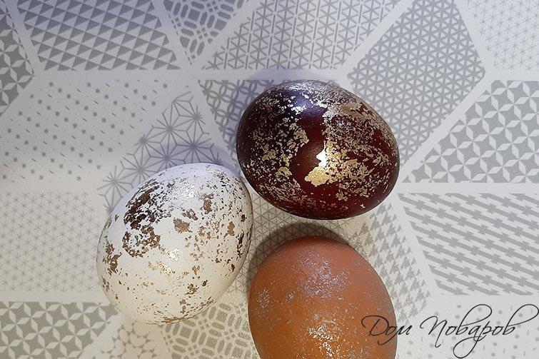 Золочение и серебрение яйца с поталью