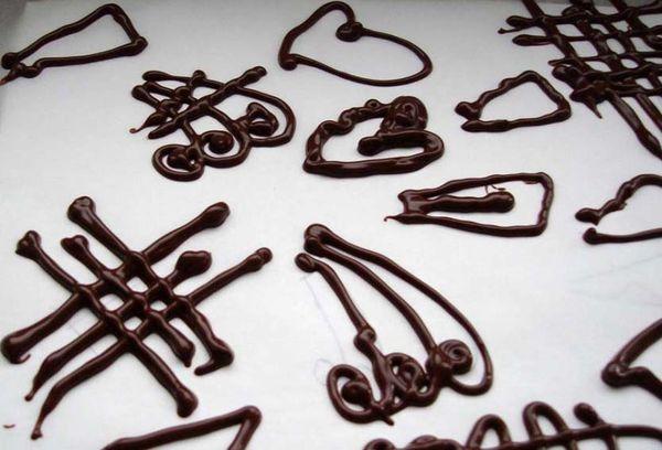 Рисунки из шоколада