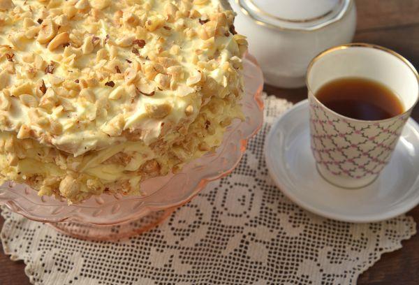 Торт с отварным кремом