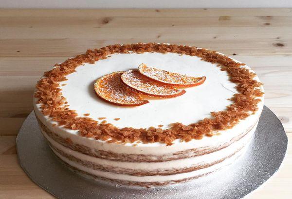 Торт со сливочным кремом