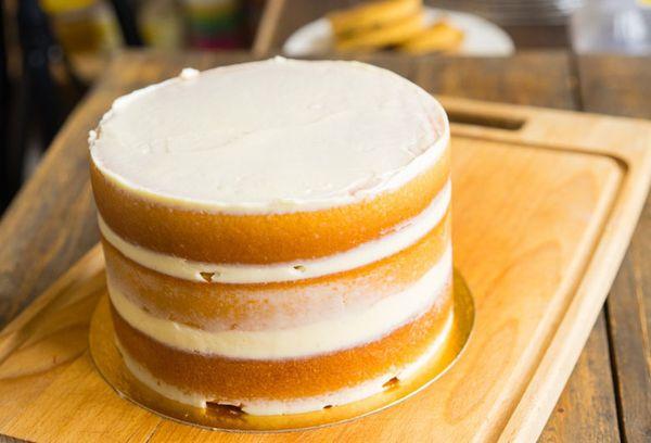 Бисквит смазанный кремом