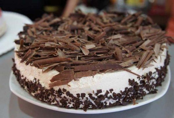 Торт с тертым шоколадом