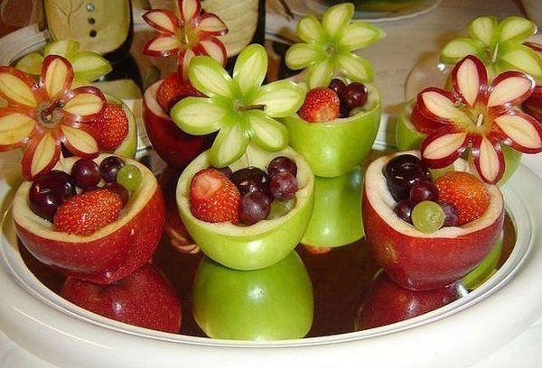 Корзинки из фруктов