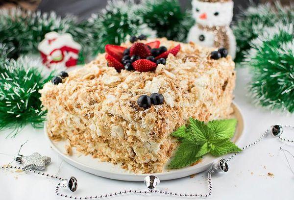 Способы украшения торта «Наполеон» в домашних условиях