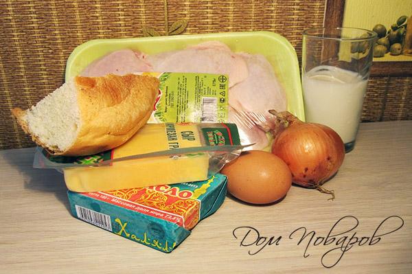 Ингредиенты для куриных котлет с сыром