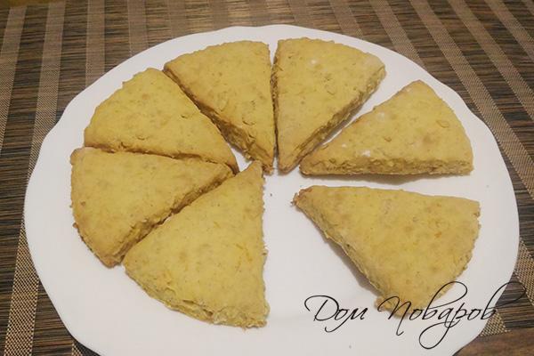 Готовое тыквенное печенье