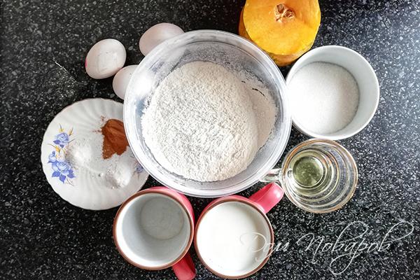 Ингредиенты для блинов с тыквой