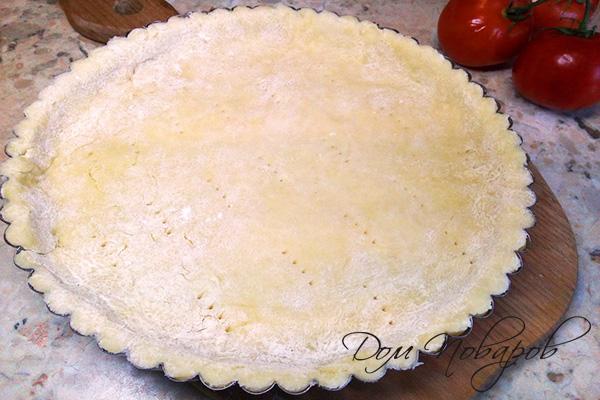 Песочное тесто в круглой форме