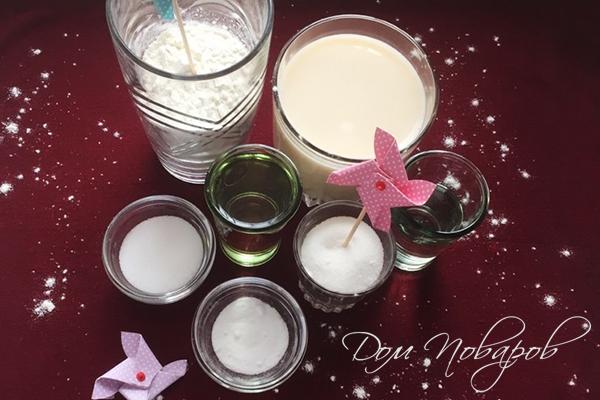 Ингредиенты для блинов на соевом молоке