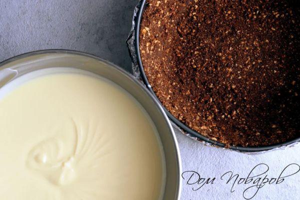 Сливочный сыр и бисквит