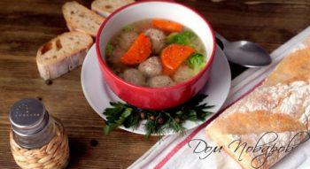 Суп с фрикадельками из куриного фарша: простой, но аппетитный рецепт