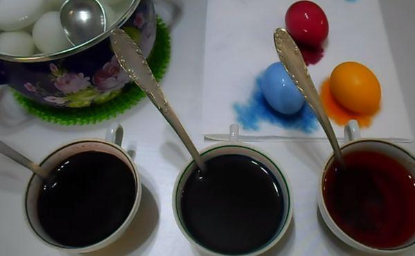 Красители для окрашивания яиц